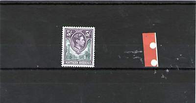 Northern Rhodesia King George V1 Mint Stamp 1938 Sg 43 5 Shillings