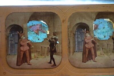 French Tissue Colour Tint Stereoview - Scene From Gounod's Opera of Faust 1850's