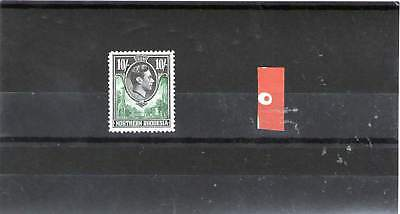 Northern Rhodesia King George V1 Mint Stamp 1938 Sg 44 10 Shillings