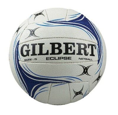 Gilbert Eclipse White Blue Match Netball Size:4