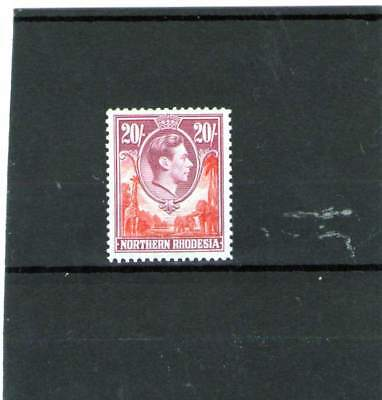 Northern Rhodesia King George V1 Mint Stamp 1938 Sg 45 20 Shillings