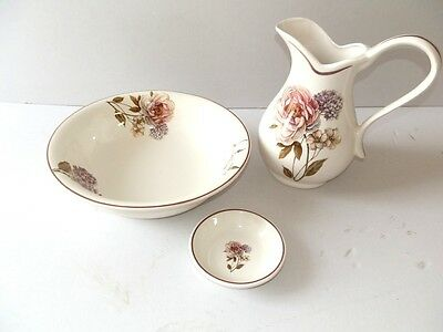 Set TOILET bowl pitcher saucer ceramics MADE IN FLORENCE DECORATION BLOSSOM