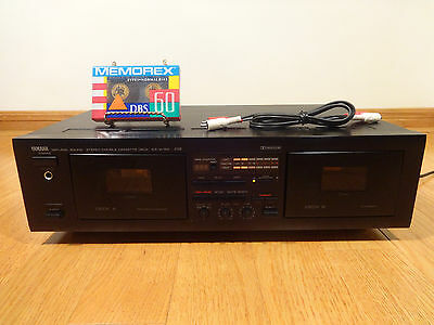 Yamaha KX-W162 Stereo Dual Cassette Deck BUNDLE 1994 TESTED 100% Works Great!