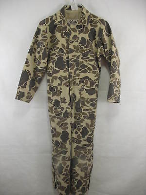 VTG Walls Blizzard Pruf Youth Size 12 Camouflage Hunting Outdoor Coveralls USA