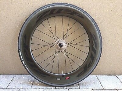Zipp 808 Firecrest Carbon Clincher V3 - Black REAR - Shimano Freehub