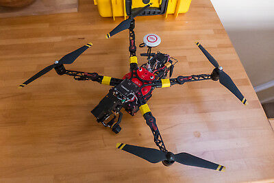 ImmersionRC Xugong v2/Pro (w/ DJI NAZA) folding quadcopter drone with 3ax gimbal
