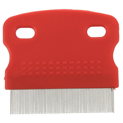 2X(Flea Fine Toothed Clean Comb Pet Cat Dog Hair Brush Soft Protection Steel S*