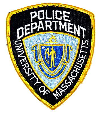 UNIVERSITY OF MASSACHUSETTS BOSTON MA Police Sheriff Patch STATE SEAL ~