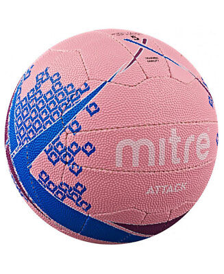 Mitre Attack Pink Blue Training Netball Size:5