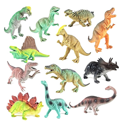 Educational Dinosaur Toys 12 pack  Christmas Holiday Gift for kids 9 Inch Toy
