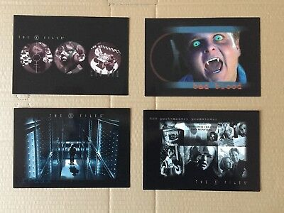 Fox X Files TV Series  Video Promotional Cards Set Scarce