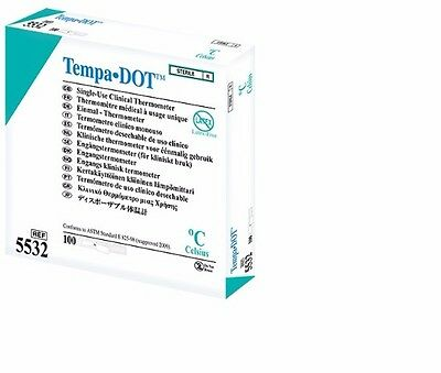 Disposable Thermometers - Tempa-Dot  (single use) x1 Box 100