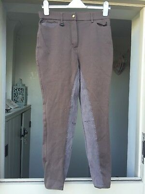 Rugged Ladies Brown Breeches Size 30