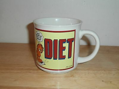 Vtg 1978 Rare Garfield Jim Davis Diet Don't Bother with the Obvious Coffee Mug