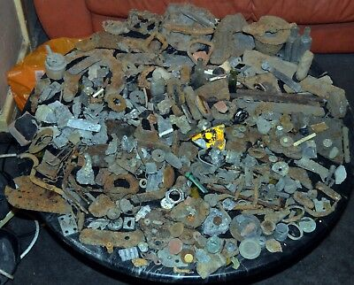 Lot of uncleaned metal detector finds