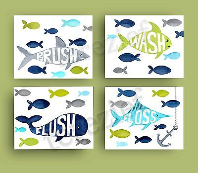 fish bathroom pillowfort shower curtain decor bath rules brush wash art prints