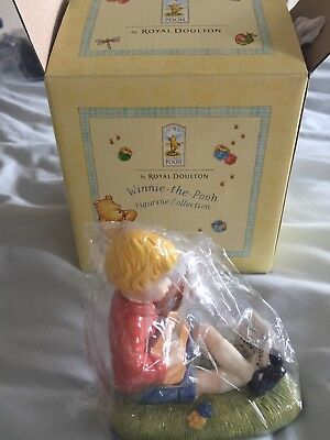 Royal Doulton Winnie The Pooh Figurines Christopher Robin strums a melody