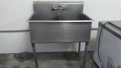 "40"" X 24"" 16-Gauge Stainless Steel Two Compartment Commercial Sink"