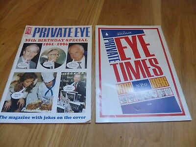 Private Eye Times (1996) & 35th Birthday Special issue 910 in v good condition