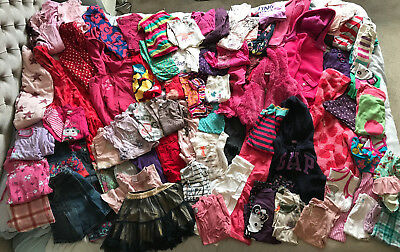 Very Large Bundle of Girls' Clothes Age 4-5 Years, Mainly Autumn / Winter Styles