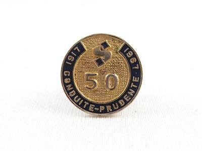 1917-1967 STEINBERG 50th ANNIVERSARY EMPLOYEE PIN GROCERY STORE QUEBEC