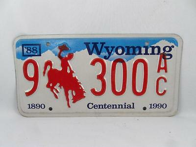 1990 Wyoming Centennial License Plate