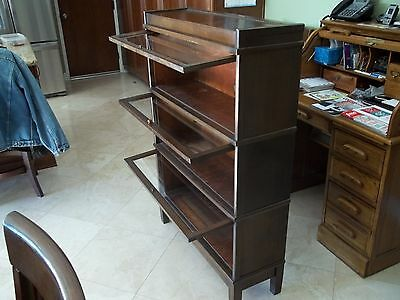 Lawyers Stacked Bookcase, finish appears to be walnut