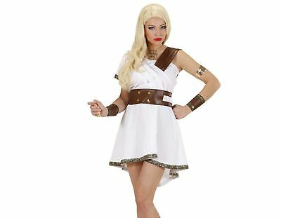 Ladies Olympia Warrior Costume Large UK 14-16 for Toga Party Roman Sparticus ...