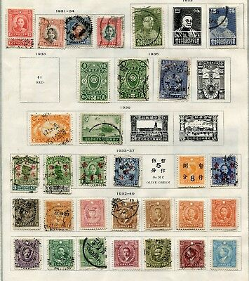 CHINA  -   Small collection MH/Canc.