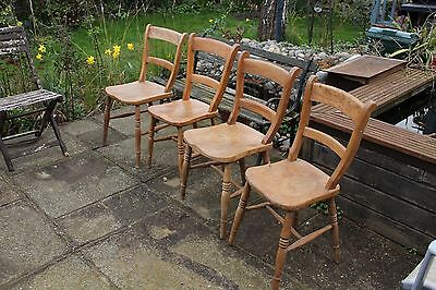 4 Vintage/Antique Dining Room Chairs plus one spare