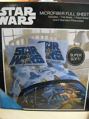 Star Wars Poster Art Luke Leia Chewbacca Full Size Microfiber Bed Sheet Set