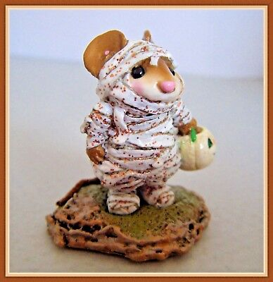 Wee Forest Folk The Mummy (org glitter) M-194 *Special Collector's Haven*