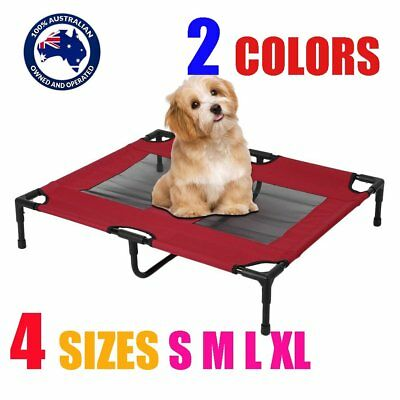 Heavy Duty Pet Dog Bed Trampoline Hammock Bed Frame Cat Puppy S M L XL RED/BLUE