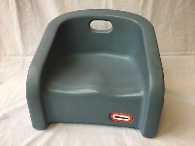 Vintage Little Tikes Toddler Booster Seat Child Size Chair Blue Plastic USA