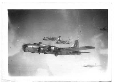 B-17 Bomber Plane Formation 398th Bomb Group 8th Air Force Original WWII Photo