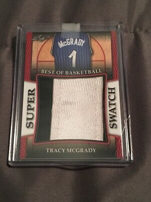 2017 Leaf Best of Basketball Tracy McGrady Super Swatch Card 7/10 + Ron Artest