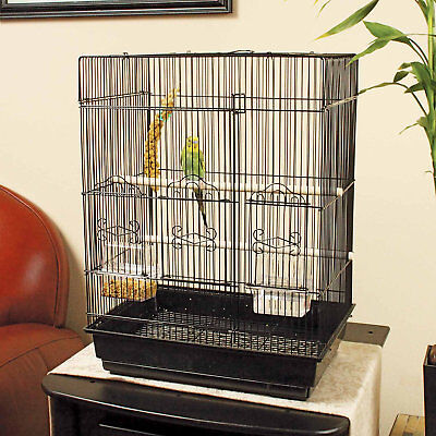 "You & Me Square Top Parakeet Cage, 16.5"" L X 11.8"" W X 22"" H"