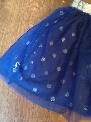 Joules girls skirt in navy with silver spots, 3-4yrs, in perfect condition!