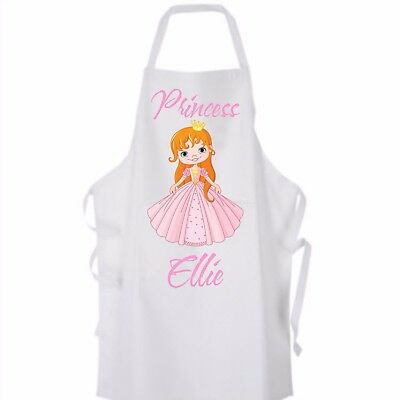 Personalised Girl's Princess Apron 4 designs available Ideal for cooking or play