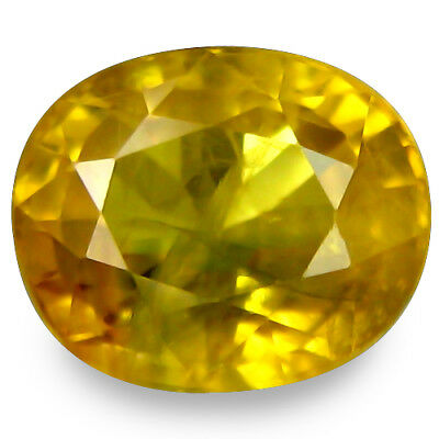 """1.630CTS Massive top luster yellow natural  sapphire oval loose gems """"see video"""""""