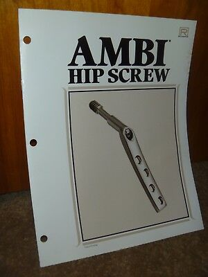 Richards Medical Company - Vintage Ambi Hip Screw Surgical Booklet - Techniques