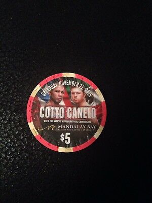 Miguel Cotto V Canelo Alvarez $5 Casino Chip Mandalay Bay