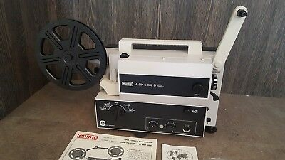 Eumig Mark S 802D Film Projector All 8mm gauges - Boxed & Complete - Sound