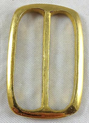 Revolutionary Civil War Antique Reproduction Polished Brass Double D Belt Buckle