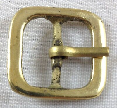 Revolutionary Civil War Antique Reproduction Polished Brass Square Belt Buckle