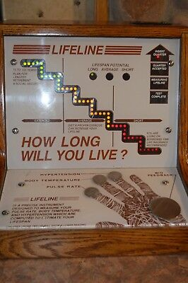 Antique Coin Operated How Long Will You Live Machine