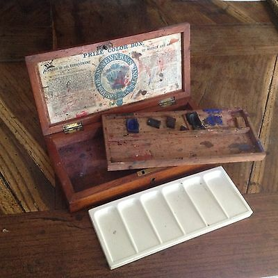 Antique artists' watercolour paint box by James Newman of Soho Square, London