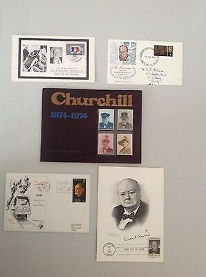 Collection of Churchill Stamps