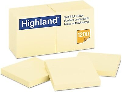 Office Yellow Self Stick 3 X 3 Sticky Post It Notes Memo Bookmark 12 Note Pads