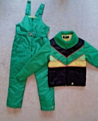 Vntg John Deere Mint Bodyguards Ski Snowmobile Suit Winter Bib Overall Jacket